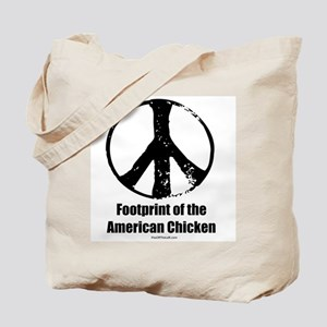 Footprint of the American Chicken Tote Bag