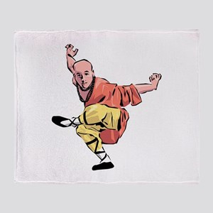 Shaolin Kungfu Throw Blanket