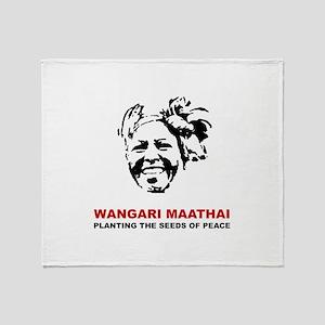 Wangari Maathai Throw Blanket