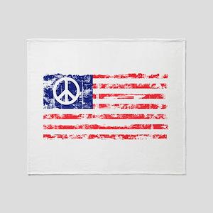 Vintage Peace In America Throw Blanket