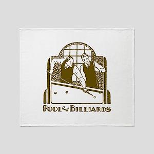 Retro Billiards Throw Blanket