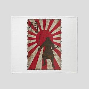 Vintage Samurai Throw Blanket