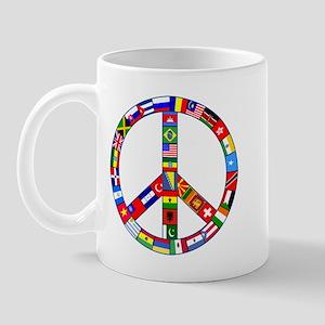 Peace Sign Made of Flags Mug