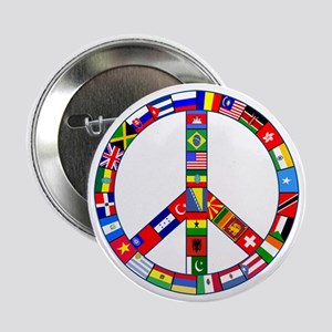 """Peace Sign Made of Flags 2.25"""" Button"""