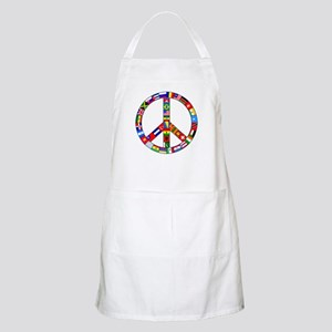 Peace Sign Made of Flags Apron