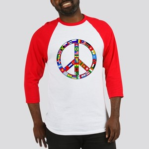 Peace Sign Made of Flags Baseball Jersey