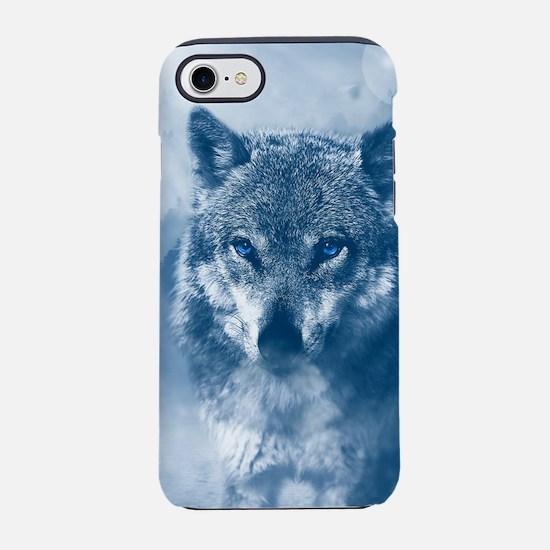 Winter Snow Wolf Animal Mystic iPhone 7 Tough Case
