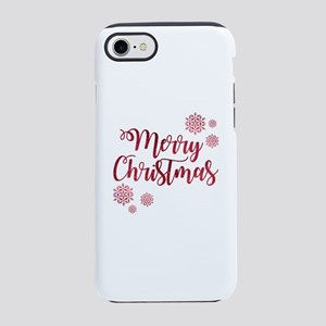 Merry Christmas Red Glitter Sc iPhone 7 Tough Case