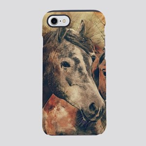 Horses Artistic Watercolor Pai iPhone 7 Tough Case