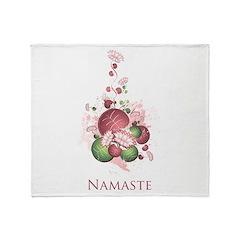 Yoga Lotus Namaste Throw Blanket
