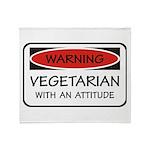 Attitude Vegetarian Throw Blanket