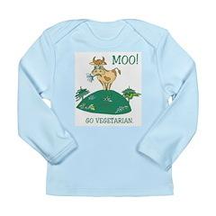 Moo Go Vegetarian Long Sleeve Infant T-Shirt