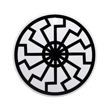 Black Sun Emblem Ornament (Round)