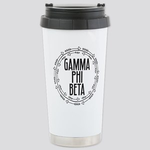 Gamma Phi Beta Ar 16 oz Stainless Steel Travel Mug