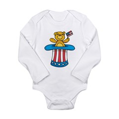 Independence Day Long Sleeve Infant Bodysuit