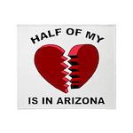 Heart In Arizona Throw Blanket