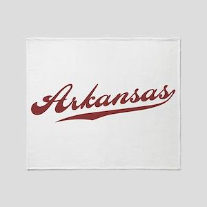 Retro Arkansas Throw Blanket