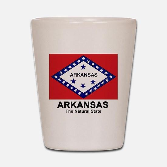 Arkansas Flag Shot Glass