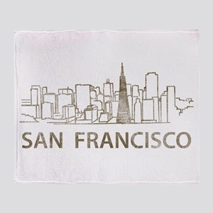 Vintage San Francisco Throw Blanket