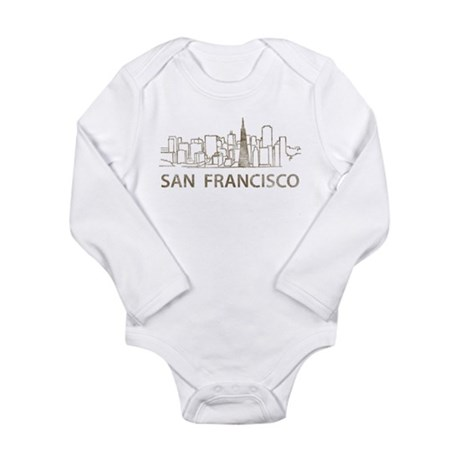 Vintage San Francisco Long Sleeve Infant Bodysuit