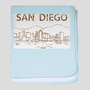Vintage San Diego baby blanket