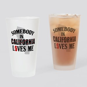 Somebody In California Pint Glass