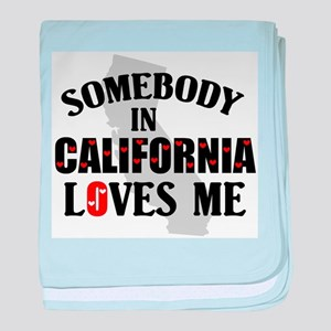 Somebody In California baby blanket