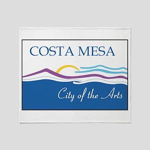 Costa Mesa Flag Throw Blanket
