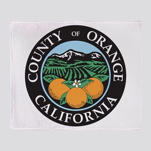 Orange County Seal Throw Blanket