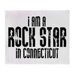 Rock Star In Connecticut Throw Blanket