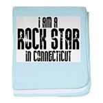 Rock Star In Connecticut baby blanket