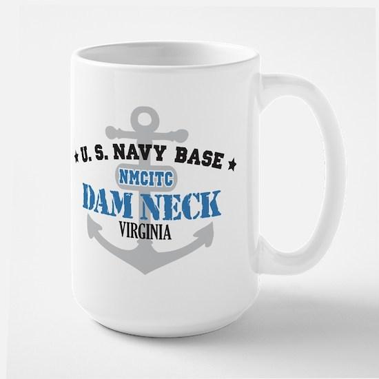 US Navy Dam Neck Base Large Mug