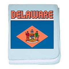Delaware Flag baby blanket