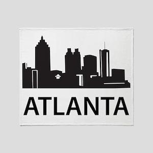 Atlanta Skyline Throw Blanket