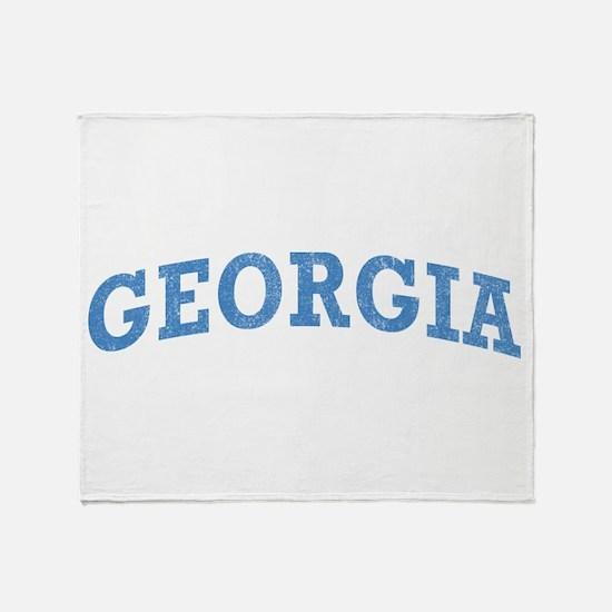 Vintage Georgia Throw Blanket