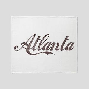 Vintage Atlanta Throw Blanket
