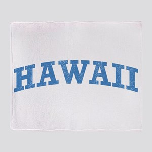 Vintage Hawaii Throw Blanket