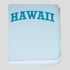 Vintage Hawaii baby blanket
