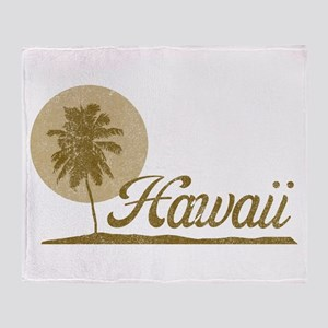 Palm Tree Hawaii Throw Blanket