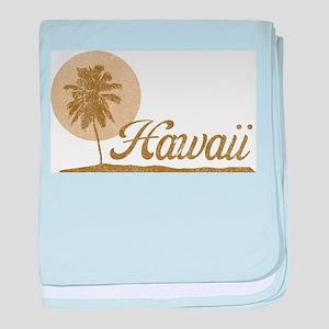Palm Tree Hawaii baby blanket