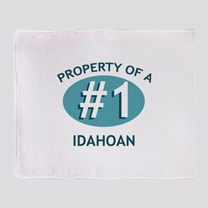Property Of Idahoan Throw Blanket