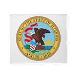 Illinois Seal Throw Blanket