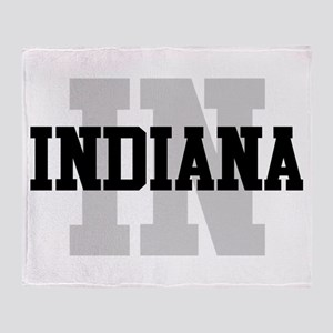 IN Indiana Throw Blanket