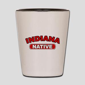 Indiana Native Shot Glass