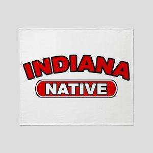 Indiana Native Throw Blanket