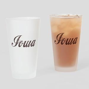 Vintage Iowa Pint Glass