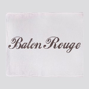 Vintage Baton Rouge Throw Blanket