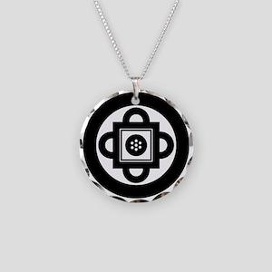 Shambhala Symbol Necklace Circle Charm