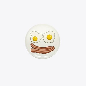 Bacon and Eggs Mini Button