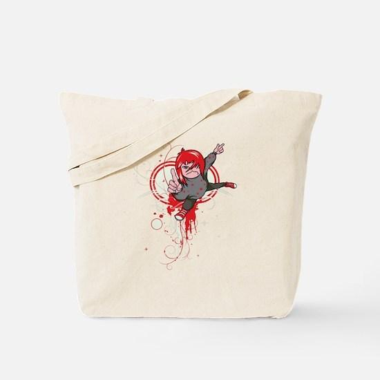 emo attitude vector design Tote Bag